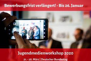 Jetzt bewerben - Jugendmedienworkshop | 21. - 28. März 2020
