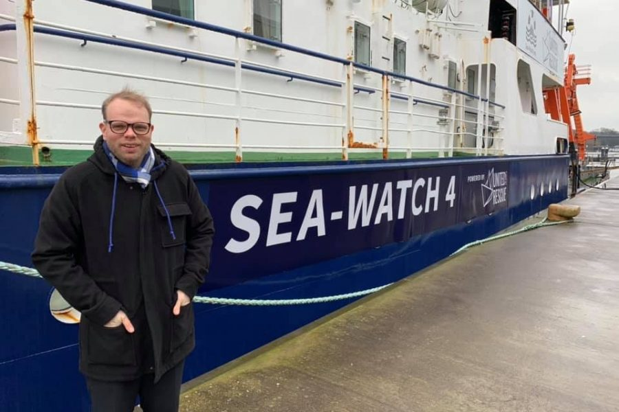 Lindh vor der Sea-Watch 4