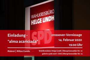 Einladung zur Vernissage am 14. Februar 2020 mit Milton Camilo