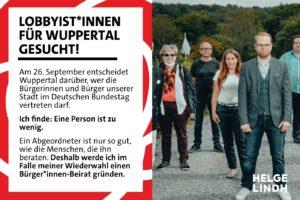 """""""Lobbyist*innen für Wuppertal gesucht"""": Der Bürger*innen-Beirat"""